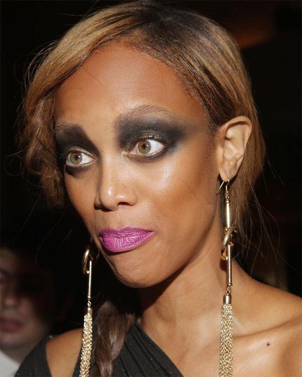Тайра Бэнкс с неудачным макияжем