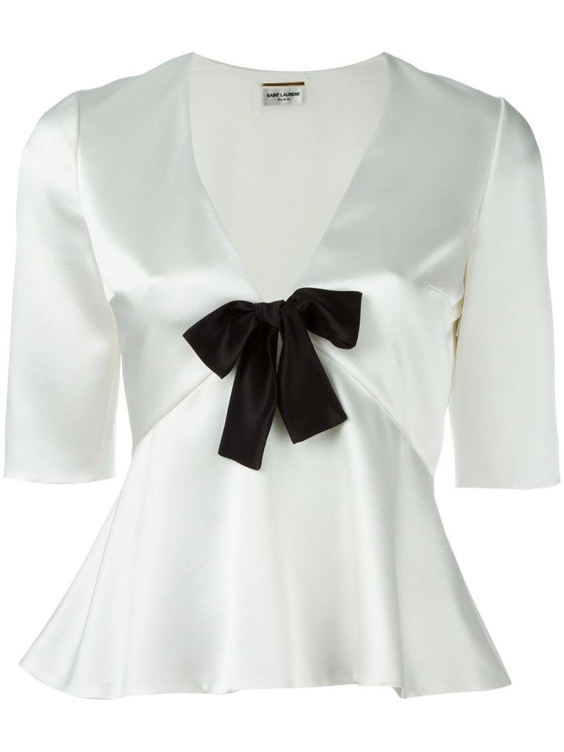 Блуза с бантом Saint Laurent, цена: от 41 287 руб.