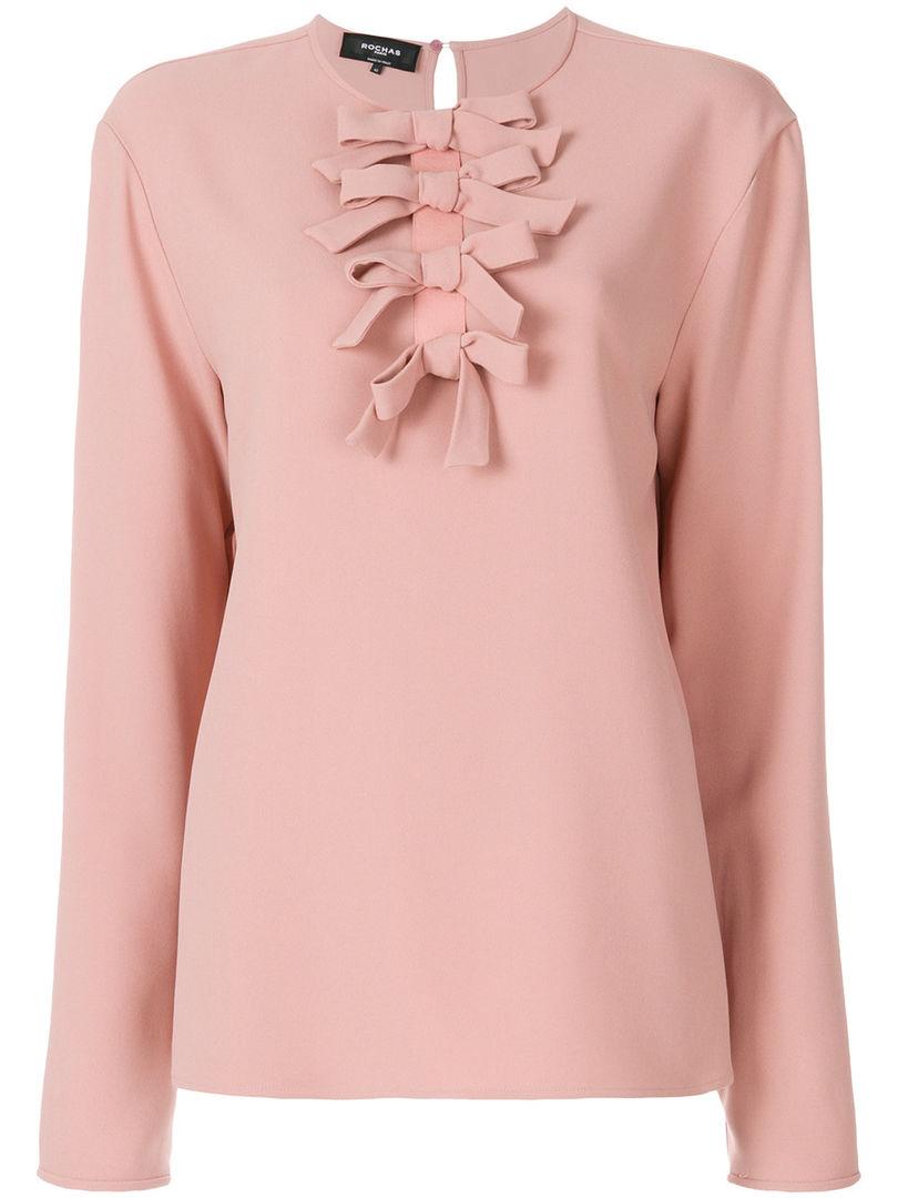 Блуза с бантом Rochas, цена: от 41 488 руб.